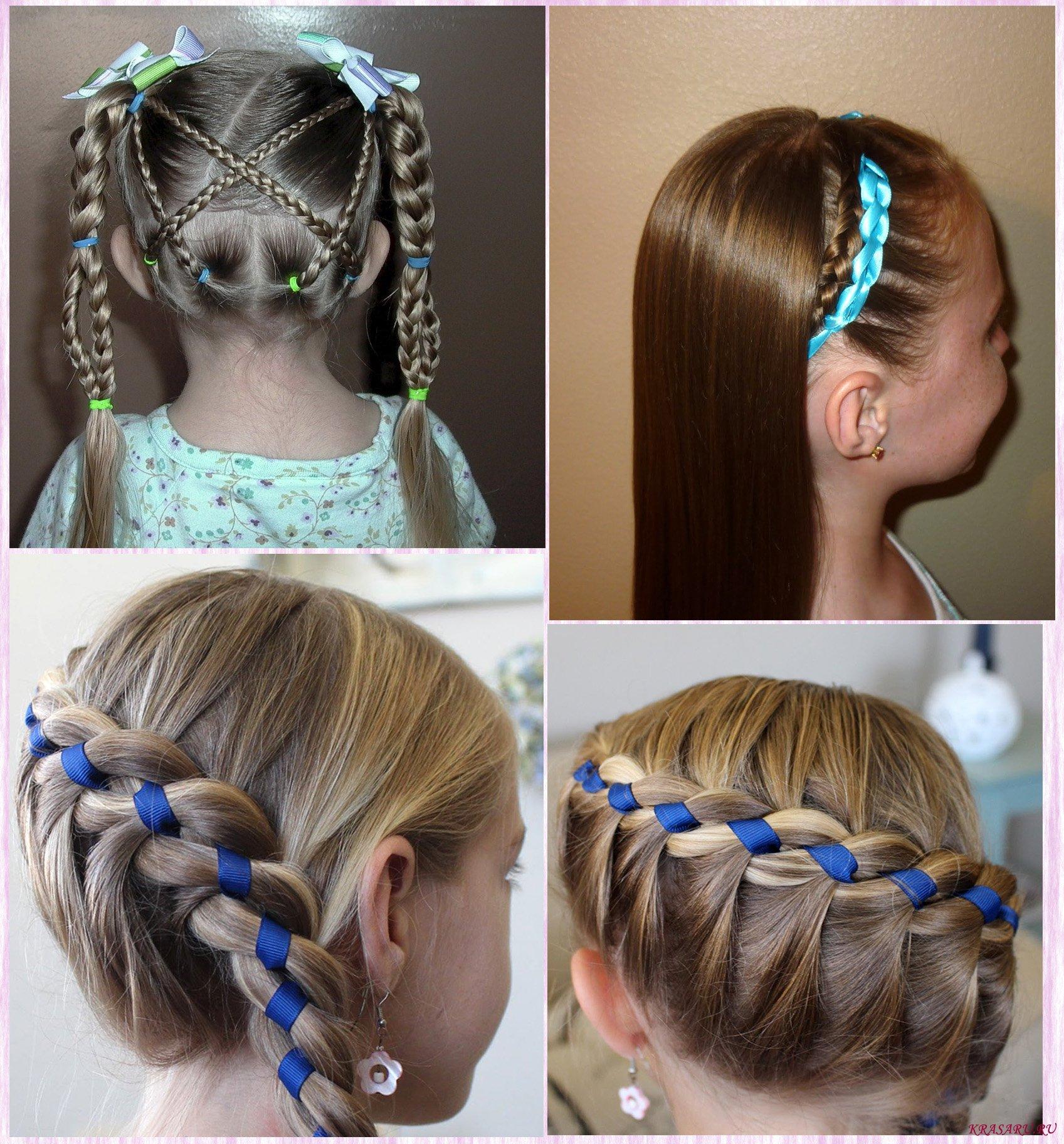 прически с лентами в волосах фото