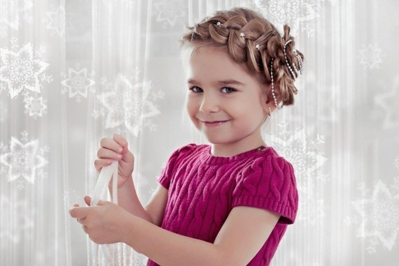 Прическа для девочки нарядная на выпускной фото