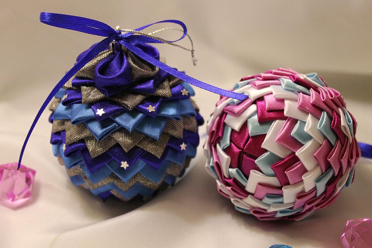 Новогодняя шары своими руками на конкурс в школу