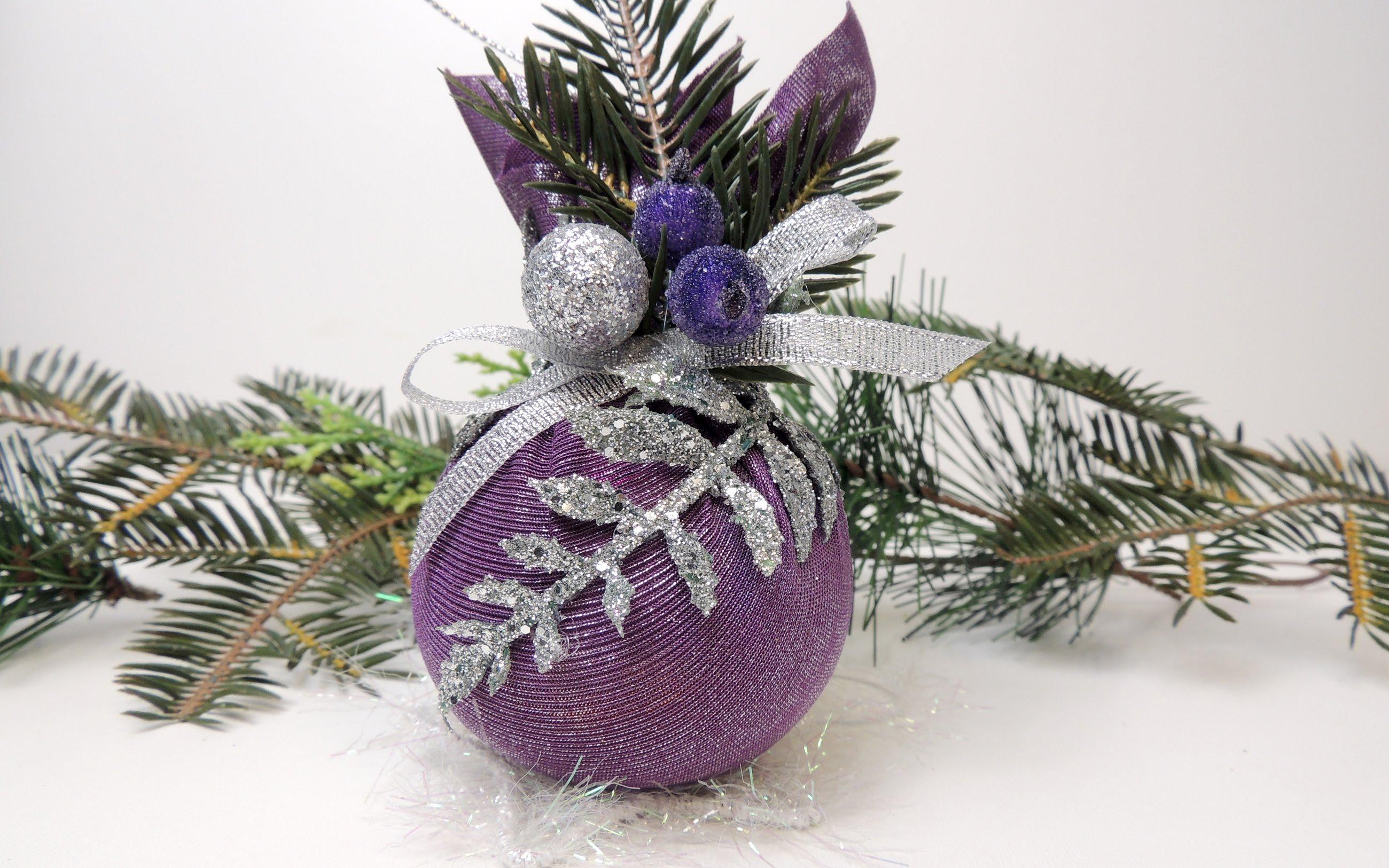 Новогодняя игрушка на елку своими руками мастер класс