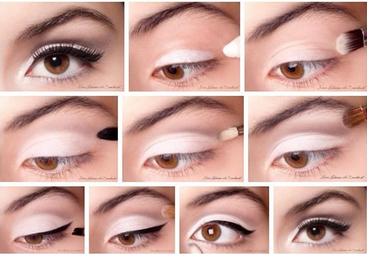 Лёгкий макияж для карих глаз пошагово на каждый день