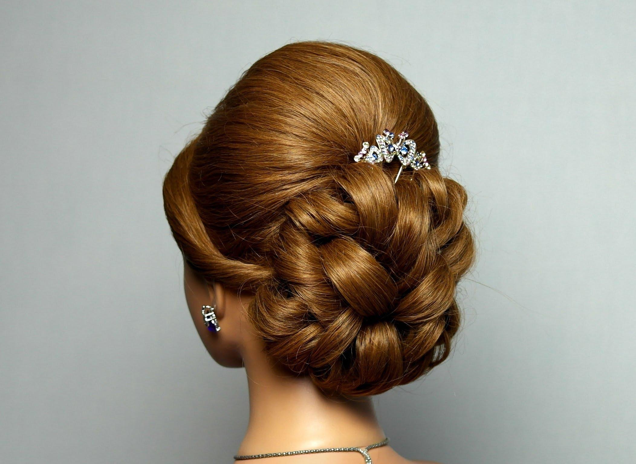Прическа выпускной длин волосы