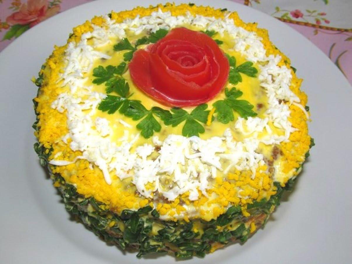 Печеночный торт салат рецепт 3