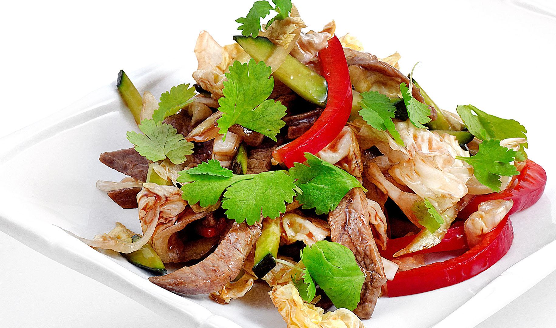 Диетический салат с говядиной - диетические рецепты для