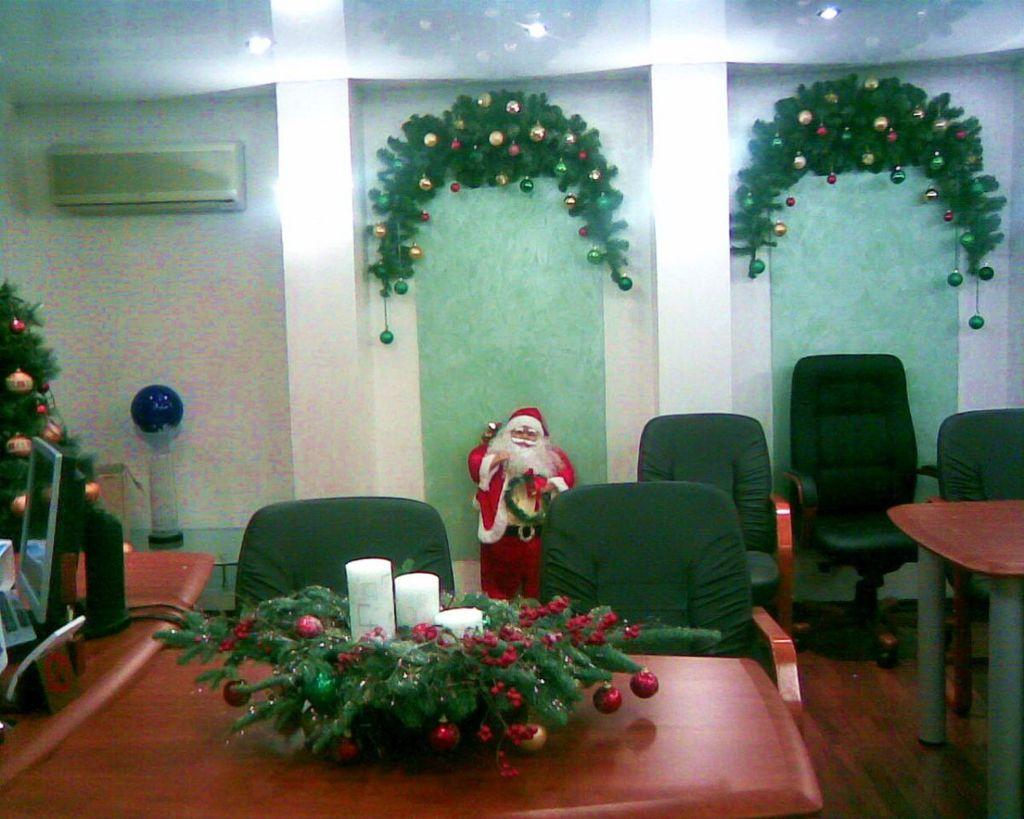 Как украсить кабинет на новый год 2017