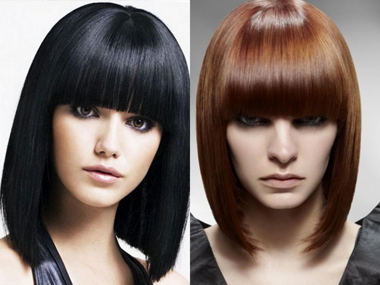 Прически челки для длинных волос 6